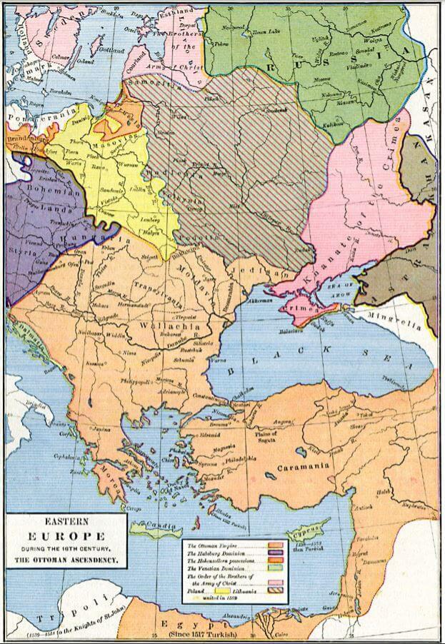 17th Century Eastern Europe Map