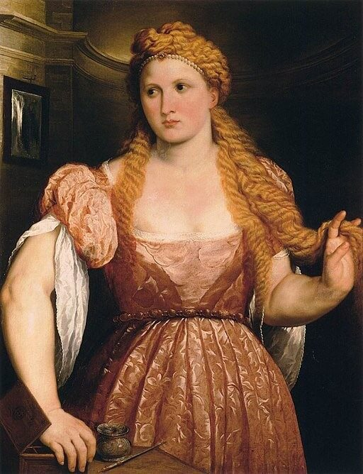 Paris Bordone's Portrait of Young Woman at Her Toilet, 1550